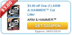 New High Value $3/1 Arm & Hammer Cat Litter Coupon!