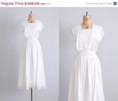 vintage 1980s dress  wedding dress  white dress  by PickledVintage, $126.00