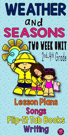 Fun, Interactive, and Engaging Weather Activities Unit for 2nd, 3rd, and 4th grade students to learn about extreme weather, seasons, climate, weather tools, water cycle, and integrate ELA into this two week set complete with lesson plans, vocabulary cards, and pacing guide. #weather #seasons #iteachscience #teacherpayteachers #iteachscience