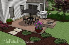 Patio with Fire Pit | Patio Designs and Ideas