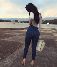"""These Jeans Will Get That  RIGHT!  Search: """"Classic High Waist Skinny Jeans"""" ✨www.FashionNova.com✨"""