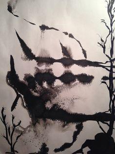Salaperäinen metsä1 #ink