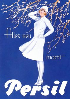 Vintage 'Persil' Poster Ad Design by Eugen Prinz Schulte 1929