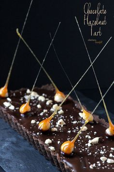 Chocolate Cookie Crust, Chocolate Hazelnut Pudding Filling and Chocolate topping. Pure Decadence. from #dietersdownfall.com