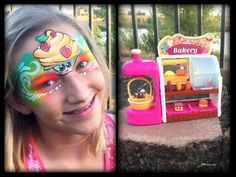 Shopkins Bakery Review and Face Painting! - YouTube