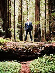 Dapper Adventure Loving Groom | Perry Vaile Photography | http://heyweddinglady.com/fine-art-adventure-loving-redwood-elopement/