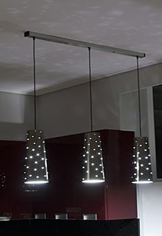 Cool idea for overhead pendant lights.