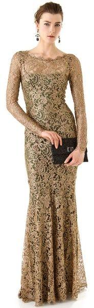 "One of the most beautiful dresses I""ve ever seen ... Altın Temperley London Ariel Dantel Maxi Elbise"