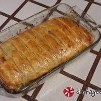 Ρολό με πικάντικες πατάτες, μπέικον και κασέρι