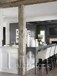 pole in front of breakfast bar - Google Search