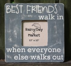 Best Friends Picture Frame by ARainyDayMarket on Etsy Birthday Gifts For Best Friend, Best Friend Gifts, Birthday Wishes, Gifts For Friends, Love My Best Friend, Best Friends For Life, Best Friends Forever, Best Friend Picture Frames, Best Friend Pictures
