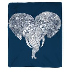 Punch Trunk Love Blanket. This type of love is unforgettable (because elephants have amazing memory). Blanket Details: - Printed in USA! - Poly Fleece Thick Plush Material - Custom Printed on front - Taupe Color Brushed Fabric Bottom