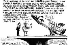 Zapiro: Syria smartbomb - The Mail & Guardian Information Theory, International Relations, Keep It Real, Syria, Awakening, Evolution, Law, Cartoons, Politics