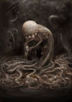 A mistura de HR Giger e HP Lovecraft nas sombrias ilustrações de terror de Delic Saike