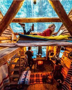 A-frame cabin design ideas Tiny House Cabin, Tiny House Design, Cabin Homes, Log Homes, Cabin Design, A Frame Cabin, A Frame House, Cabin In The Woods, Cabins And Cottages