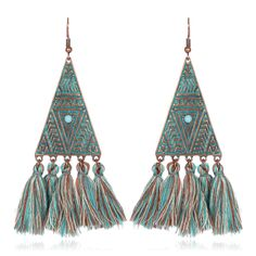 Cheap dangle drop earings, Buy Quality dangle earrings directly from China drop dangle earrings Suppliers: Antique Gold Color Triangle Egyptian Drop Earrings Morocco Dangle Earrings Long Earrings for Women Long Tassel Earrings Long Tassel Earrings, Fringe Earrings, Silver Hoop Earrings, Women's Earrings, Triangular Pattern, Fashion Jewelry, Women Jewelry, Jewelry Accessories, Bohemian Jewelry