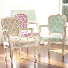 Lattice Ooh La La Armchair from PBteen $349.00. Would be perfect for the workroom!