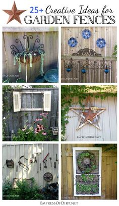 Creative ideas for garden fences and walls: unique ways to add an artistic touch to your garden. Creative ideas for garden fences and walls: unique ways to add an artistic touch to your garden. Backyard Fences, Garden Fencing, Backyard Projects, Garden Projects, Backyard Ideas, Art Projects, Backyard Designs, Large Backyard, Balcony Ideas