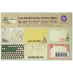 Prima Marketing Coffee Break Journaling Notecards 4Inch by 6Inch * Check out this great product.Note:It is affiliate link to Amazon.