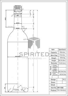 dimensions of standard wine bottle - Buscar con Google Engineering Notes, Mechanical Engineering Design, Wine Bottle Dimensions, Autocad Isometric Drawing, Contemporary Wine Racks, Bottle Drawing, Woodworking Inspiration, Packaging Solutions, Wine Bottle Holders