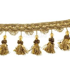 Beaded Trim Tassel Fringe for Window Drapery Upholstery Bedding Gimp Decor in Crafts, Sewing, Embellishments & Finishes, Tassels Living Room Upholstery, Upholstery Cushions, Upholstery Nails, Furniture Upholstery, Cleaning Car Upholstery, Upholstery Repair, Upholstery Cleaner, Tufted Headboards, Beaded Trim