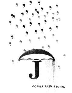 comma rain storm by Linda Zacks
