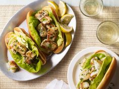 Get Brown Butter Scallop Rolls Recipe from Food Network