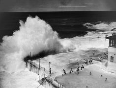 Wave pool at Bondi Beach in Sydney, Australia, 1945. [Summers Past: Golden Days in the Sun 1950–1970]