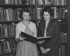 A librarian in the Walter P. Reuther Library of Labor and Urban Affairs, 1950.