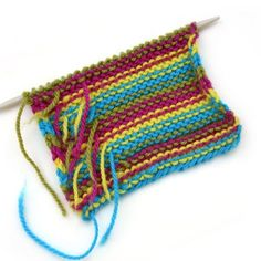 A simple trick for weaving in ends as you knit stripes to cut down on finishing time.
