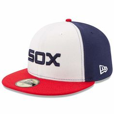 New Era Kids' Chicago White Sox Authentic Collection Cap - Black/White/Red 6 Cap Drawing, White Sox Logo, New Era Kids, Sock Crafts, Chicago White Sox, New Era Cap, Black White Red, Mens Caps, Sports Fan Shop