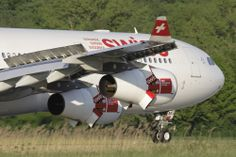 Close Up Swiss Airbus A340-313X