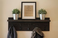 Rustic Wooden Entryway Coat Rack Rustic by DunnRusticDesigns