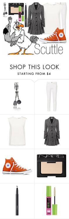 """""""Scuttle~ DisneyBound"""" by basic-disney ❤ liked on Polyvore featuring Bling Jewelry, M.i.h Jeans, Finders Keepers, Relaxfeel, Converse, NARS Cosmetics, MAC Cosmetics and Maybelline"""