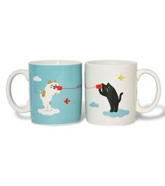 Cat Mugs, i don't like cats, but this is way cute....