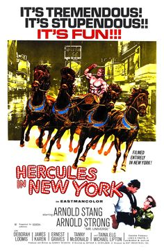 """Hercules In New York (1970) starring Arnold """"Strong"""""""