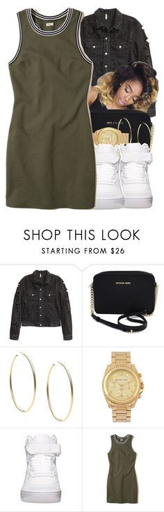"""#164"" by itzchrissy ❤ liked on Polyvore featuring Michael Kors, NIKE and Hollister Co."