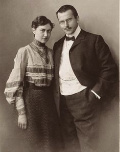 The C.G. Jung Foundation for Analytical Psychology Home page - photo of C.G. Jung and Emma Jung