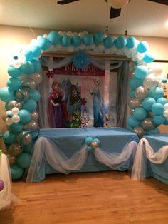 Frozen Birthday Balloon Decor