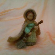 February ~ Mrs. Thaw ~ Needle Felted Wool