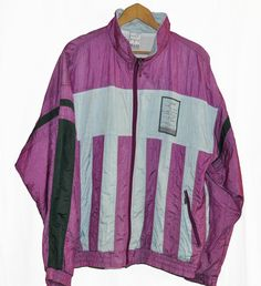 Rare Vintage 90s Puma Windbreaker Tracksuit top  jacket Color  Block  Purple/Black/Gray D8 Sz XL by VapeoVintage on Etsy