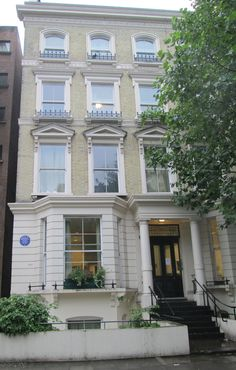 The home of composer Benjamin Britten from London Townhouse, London House, Earls Court London, England, United Kingdom, Exterior, Architecture, House Styles, Famous People