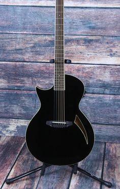 ESP/LTD Left Handed  TL-6 Black Acoustic Electric Thin Body Guitar