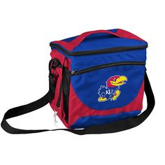 Logo Brand Kansas Jayhawks 24-Can Cooler, Multicolor