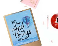 """Set your mind on things above"" Printable - spoonyprint Printable Bible Verses, Printable Quotes, Bible Quotes, Mindfulness, Printables, Print Templates, Bible Scripture Quotes, Consciousness, Biblical Quotes"