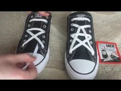 How To Star Lace Converse - YouTube