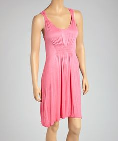 Look what I found on #zulily! Watermelon Ombré Sleeveless Dress - Women by Raya Sun #zulilyfinds