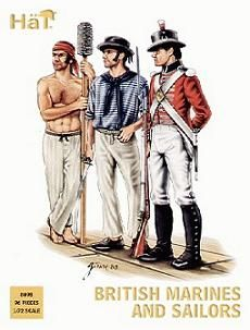 Two sailors and a Royal Marine, typical of the men who served in Nelson's navy