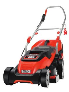 Black & Decker 1600W Edge-Max Lawn Mower with 38cm Cut Intelli Cable Management and 45L Compact Go Box