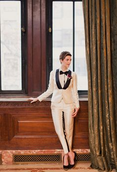 In love with this chic suit | H & H Weddings